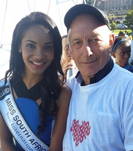 Peter with Miss SA 2015